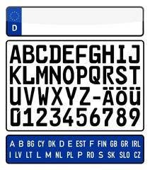 Nummernschilder basteln leicht gemacht - Vektor