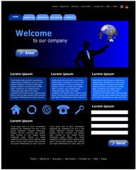 Website Template Business black