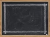 blank blackboard with eraser smudges poster
