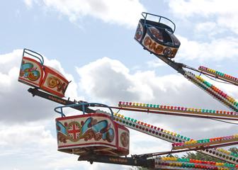 A Colourful Ride from a Fun Fair.