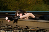 sleeping on train tracks
