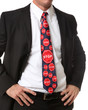 Business Man with Stop Sign Tie