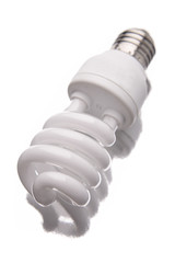 Energy saving light bulb closeup