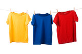 Fototapety Colorful T-Shirts on White