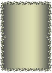 Floral vintage silvery frame (vector)