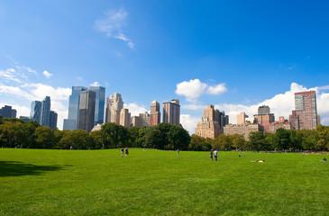 Manhattan skyline from the Central Park