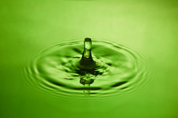 splash in green