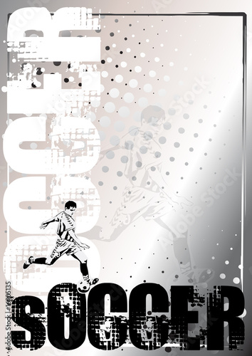 soccer silver poster background 1