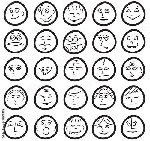 Funny Emotions icons smiles
