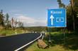 Autobahn-Wegweiser nach Kassel