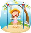 roleta: little girl on a swing