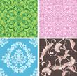 beautiful natural seamless tile design set