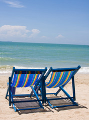 Beach on a sunny day.Pattaya city in Thailand