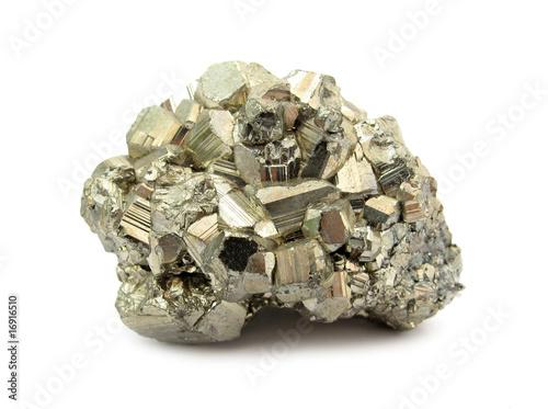 canvas print picture Pyrite stone mineral rock