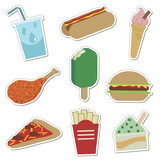 fast food stickers poster