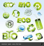 Fototapety vector set: eco & bio