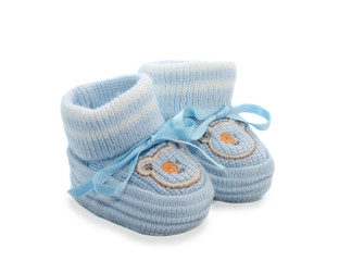 Bootees for the baby, isolated.