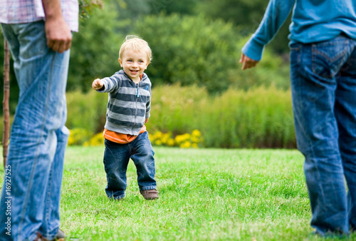 poster of Child running to parents