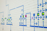 part of modern electric scheme is in control room poster