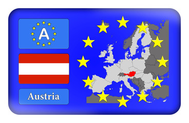 3D-Button Europäische Union - Österreich