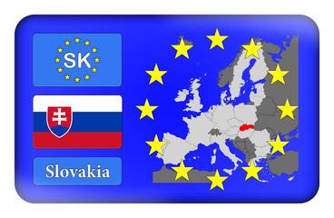 3D-Button Europäische Union - Slowakei