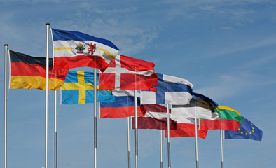 internationale Flaggen