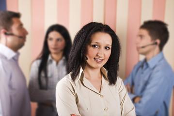 Beauty customer service woman and teamwork