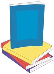 Vector Illustration of Paperback Books