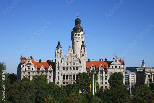 Leipzig Rathaus Burg Pleiße Sachsen