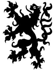 European medieval lion