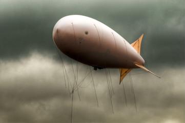 dirigible in the sky