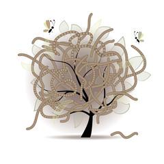 Worm-eaten tree