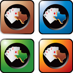 Texas hold em on colored web buttons