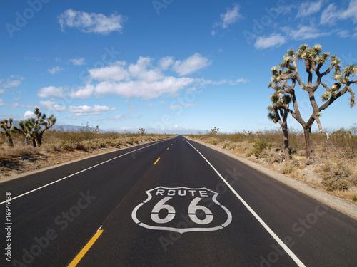Poster Route 66 Mojave Desert