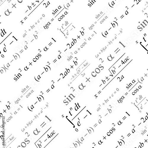 Seamlessly vector wallpaper mathematics on white