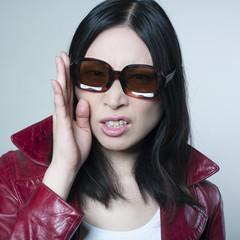 jeune femme Asiatique offensée