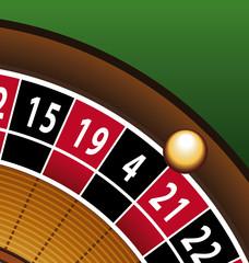 Roulette casino gros plan