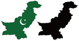 vector precise map and flag of Pakistan poster