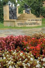 Anton Bernolak statue group in Trnava