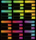 Glowing gradient mesh spectrum buttons poster