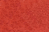 Close-up of Red synthetic fibrous surface poster