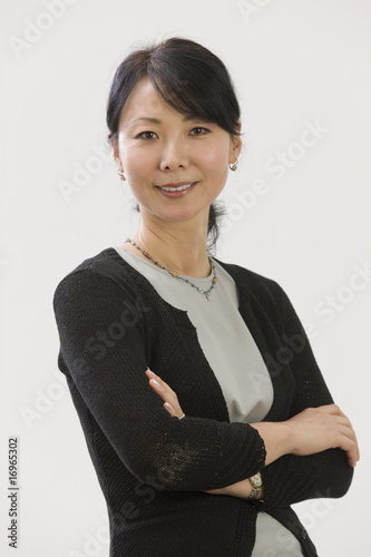 Asian businesswoman smiling portrait
