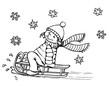 Kind, Mädchen, Weihnachten, Winter, Schnee