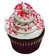 Red Velvet Cupcake with Red Sprinkels