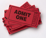 Pile of Admit One tickets