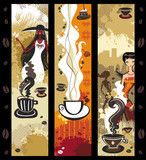 Fototapety Coffee girls banners.