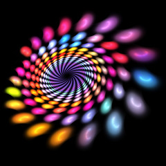 Abstract fractal futuristic spiral background