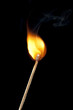 Round Flame on Match Stick