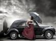 Fototapeta Dama - Kobieta - Podróż / Transport