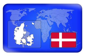3D-Button - Dänemark